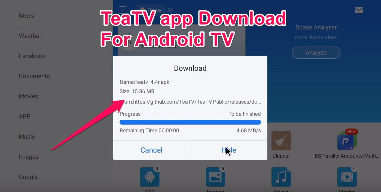 TeaTV for Smart Tv Android Installation Guide in 5 minutes