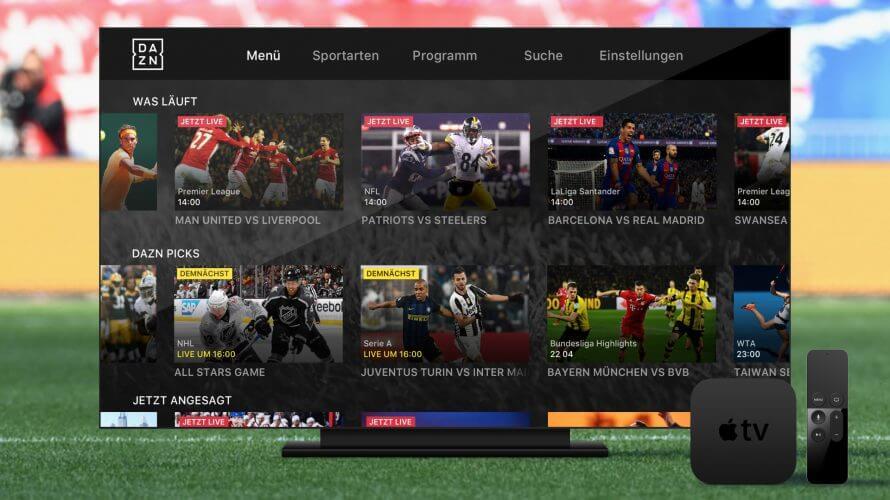 Dazn Live streaming TV App for Smart TV